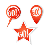 Go! Bubbles. Stickers set 60016016966| 写真素材・ストックフォト・画像・イラスト素材|アマナイメージズ