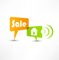 House for sale. Concept speech bubbles 60016016969| 写真素材・ストックフォト・画像・イラスト素材|アマナイメージズ