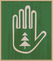 Hand and spruce