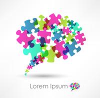 speech bubble made from puzzle 60016017221| 写真素材・ストックフォト・画像・イラスト素材|アマナイメージズ