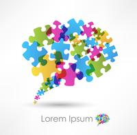 speech bubble made from puzzle 60016017222| 写真素材・ストックフォト・画像・イラスト素材|アマナイメージズ