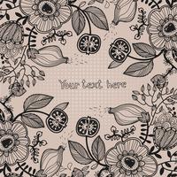 vector floral background 60016017489| 写真素材・ストックフォト・画像・イラスト素材|アマナイメージズ