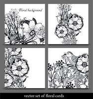 vector set of hand drawn floral cards 60016017492| 写真素材・ストックフォト・画像・イラスト素材|アマナイメージズ