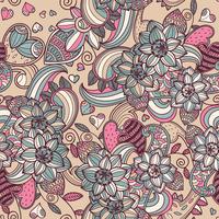 vector floral seamless pattern 60016017503| 写真素材・ストックフォト・画像・イラスト素材|アマナイメージズ
