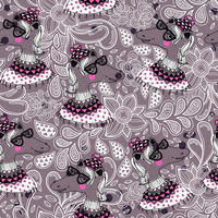 vector seamless pattern with funny horses