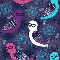 vector seamless pattern with colored owls 60016018440  写真素材・ストックフォト・画像・イラスト素材 アマナイメージズ