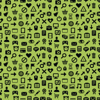vector seamless pattern with technology icons - abstract background