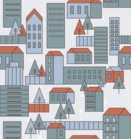 seamless city pattern 60016019510| 写真素材・ストックフォト・画像・イラスト素材|アマナイメージズ