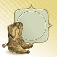 cowboy boots in engraving style 60016019594| 写真素材・ストックフォト・画像・イラスト素材|アマナイメージズ
