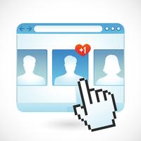 Vector social media concept 60016020196| 写真素材・ストックフォト・画像・イラスト素材|アマナイメージズ