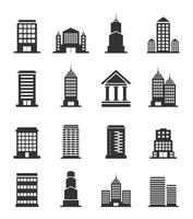 Set of icons of office buildings. A vector illustration 60016020249| 写真素材・ストックフォト・画像・イラスト素材|アマナイメージズ