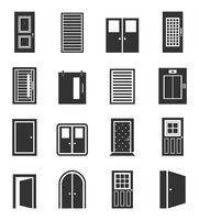 Set of icons of doors. A vector illustration 60016020264| 写真素材・ストックフォト・画像・イラスト素材|アマナイメージズ