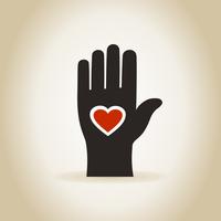 Heart in a hand. A vector illustration 60016020282| 写真素材・ストックフォト・画像・イラスト素材|アマナイメージズ