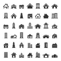 Set of icons of houses. A vector illustration 60016020286| 写真素材・ストックフォト・画像・イラスト素材|アマナイメージズ