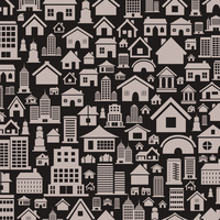 Background made of houses. A vector illustration 60016020291| 写真素材・ストックフォト・画像・イラスト素材|アマナイメージズ