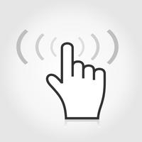 The hand presses the button. A vector illustration 60016020296| 写真素材・ストックフォト・画像・イラスト素材|アマナイメージズ