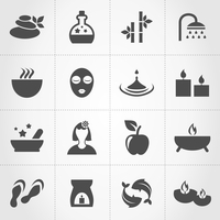 Set of icons spa. A vector illustration