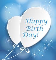 Vector Illustration of a Happy Birthday Greeting Card with paper ballons 60016020634| 写真素材・ストックフォト・画像・イラスト素材|アマナイメージズ