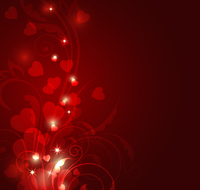 Red decorative vector background for Valentine's Day