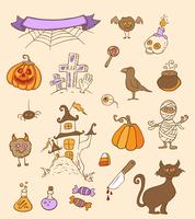 Halloween vector doodle elements for design  60016020862| 写真素材・ストックフォト・画像・イラスト素材|アマナイメージズ