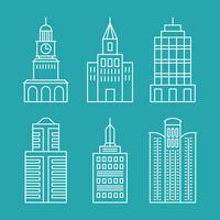 Vector set outline buildings and houses - line design elements  60016021472| 写真素材・ストックフォト・画像・イラスト素材|アマナイメージズ