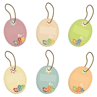 Easter card2. Set of easter cards on a cord. A vector illustration