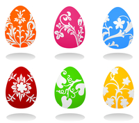 Easter egg2. Set of Easter eggs of different colour. A vector illustration