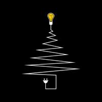 Electric Christmas tree. A vector illustration 60016022263  写真素材・ストックフォト・画像・イラスト素材 アマナイメージズ