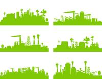 Factory7. Set of factories and factories. A vector illustration 60016022286| 写真素材・ストックフォト・画像・イラスト素材|アマナイメージズ