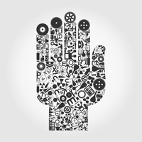 Hand collected from objects of science. A vector illustration 60016022537| 写真素材・ストックフォト・画像・イラスト素材|アマナイメージズ