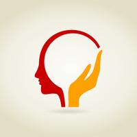 Hand in a head. A vector illustration 60016022640| 写真素材・ストックフォト・画像・イラスト素材|アマナイメージズ