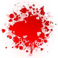 Heart a stain. Red stain in the form of heart. A vector illustration