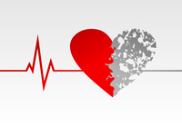 Heart life. The cardiogramme of a rhythm of heart. A vector illustration