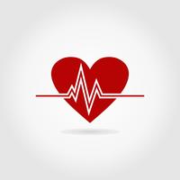 The cardiogramme of a rhythm of heart. A vector illustration