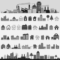Set of icons of houses. A vector illustration 60016022715| 写真素材・ストックフォト・画像・イラスト素材|アマナイメージズ