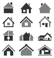 Set of icons of houses. A vector illustration 60016022716| 写真素材・ストックフォト・画像・イラスト素材|アマナイメージズ
