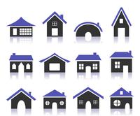 Set of icons of houses. A vector illustration 60016022717| 写真素材・ストックフォト・画像・イラスト素材|アマナイメージズ