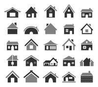 Set of icons of houses. A vector illustration 60016022718| 写真素材・ストックフォト・画像・イラスト素材|アマナイメージズ