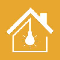 Bulb in the house. A vector illustration 60016022720| 写真素材・ストックフォト・画像・イラスト素材|アマナイメージズ