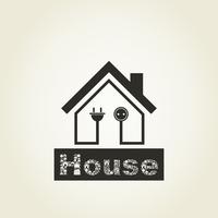 Inscription house and the house. A vector illustration 60016022721| 写真素材・ストックフォト・画像・イラスト素材|アマナイメージズ