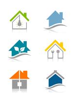 Set of icons of houses. A vector illustration 60016022722| 写真素材・ストックフォト・画像・イラスト素材|アマナイメージズ
