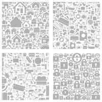 Background made of houses. A vector illustration 60016022733| 写真素材・ストックフォト・画像・イラスト素材|アマナイメージズ