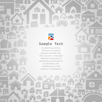 Frame for the text from houses. A vector illustration 60016022736| 写真素材・ストックフォト・画像・イラスト素材|アマナイメージズ