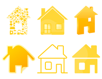 House icon4. Set of icons of houses of gold colour. A vector illustration 60016022749| 写真素材・ストックフォト・画像・イラスト素材|アマナイメージズ
