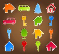 House icon5. Set of icons on a house theme. A vector illustration 60016022750| 写真素材・ストックフォト・画像・イラスト素材|アマナイメージズ