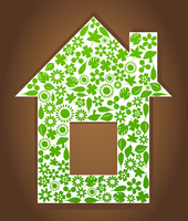 House2. The house combined from plants. A vector illustration 60016022775| 写真素材・ストックフォト・画像・イラスト素材|アマナイメージズ