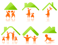 Icons a family2. Set of icons on a family theme. A vector illustration
