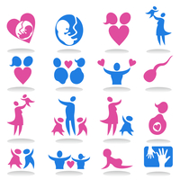 Icons a family3. Collection of icons on a family theme. A vector illustration