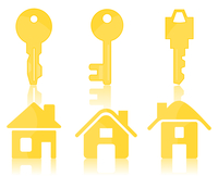 Key and the house. Set of icons of keys and houses. A vector illustration 60016022924| 写真素材・ストックフォト・画像・イラスト素材|アマナイメージズ