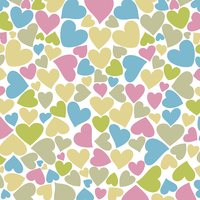 Love background from hearts. A vector illustration